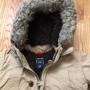 Baby gap fur hood coat